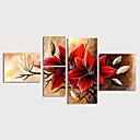 halpa Tulosteet-Hang-Painted öljymaalaus Maalattu - Kukkakuvio / Kasvitiede Moderni Sisällytä Inner Frame / 5 paneeli