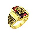 זול צמידי גברים-בגדי ריקוד גברים טבעת 1pc ירוק כחול בורדו פלדת על חלד ציפוי זהב חתונה יומי תכשיטים Tiger