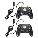 baratos Acessórios Xbox 360-lote 2 pad jogo controlador preto com fio para microsoft xbox s tipo 2