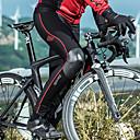 זול שורטים, מכנסיים, טייצים לרכיבת אופניים-SANTIC בגדי ריקוד גברים לזוג טייץ לרכיבה אופניים מכנסיים מחזיר אור שמור על חום הגוף עמיד ספורט פס פוליאסטר אלסטיין חורף שחור / אדום רכיבת הרים רכיבת כביש ביגוד מתקדם מידת Race Fit בגדי רכיבת אופניים