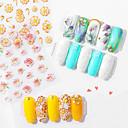 זול כיסויים להגה-1 pcs העברת מים מדבקה סדרה רומנטית / פרח עיצוב ציפורניים פדיקור מניקור איכות מעולה / קל ונוח מסוגנן / צבעוני יומי / פֶסטִיבָל