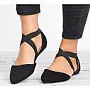 hesapli Kadın Babetleri-Kadın's Ayakkabı Süet Bahar Düz Ayakkabılar Düz Taban Günlük için Siyah / Kahverengi / Leopar