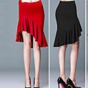 זול דלת חומרה & מנעולים-ריקוד לטיני חלקים תחתונים בגדי ריקוד נשים הדרכה / הצגה ספנדקס תד נשפך / סלסולים / קפלים נפול חצאיות