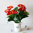 abordables Plantes artificielles-1pc 18 tête 5 hauteur de fleur simulation fleur grand rouge paume simulation en pot bureau décoration simulation plante bonsaï en plastique fleur