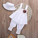 رخيصةأون مجموعات ملابس البيبي-مجموعة ملابس قطن قصيرة بدون كم لون سادة رياضي Active / أساسي للفتيات طفل / طفل صغير
