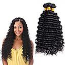 halpa Aitohiusperuukit-3 pakettia Brasilialainen Syvät aallot Virgin-hius Hiukset kutoo Bundle Hair Aitohiuspidennykset 8-28 inch Luonnollinen väri Hiukset kutoo Hajuton Elämä Paksu Hiukset Extensions Naisten