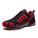 hesapli Kadın Atletik Ayakkabıları-Kadın's Ayakkabı Örümcek Ağı Yaz Sportif / Günlük Atletik Ayakkabılar Koşu / Bisiklet Düz Taban Yuvarlak Uçlu Günlük / Dış mekan için Gri / Siyah / Kırmızı / Haki