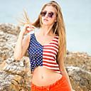 זול מלאכה ותפירה-מבוגרים בגדי ריקוד נשים קוספליי דגל אמריקאי תחפושות קוספליי וסט עבור Halloween לבוש יומיומי polyster יום העצמאות אפוד