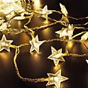 זול חוט נורות לד-lende 2m 20 מורות מחרוזת אורות חם לבן / rgb / לבן השמש מופעל חג המולד חג החתונה קישוט צד התאורה