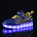 billige Sneakers til børn-Drenge / Pige Flyknit Sneakers Lysende Sko Gang LED Grøn / Blå / Lys pink Sommer / Efterår / Gummi