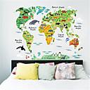povoljno Zidne naljepnice-Dekorativne zidne naljepnice - Zidne naljepnice karte Karte Unutrašnji / Dječja soba
