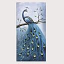 povoljno Slike sa životinjskim motivima-Hang oslikana uljanim bojama Ručno oslikana - Pejzaž Apstraktni pejsaži Klasik Tradicionalno Bez unutrašnje Frame