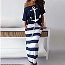 preiswerte Synthetische Perücken ohne Kappe-Damen Grundlegend Hülle Kleid - Druck, Geometrisch Knielang