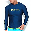 cheap Wetsuits, Diving Suits & Rash Guard Shirts-Men's SPF30 UV Sun Protection Quick Dry Long Sleeve Diving Surfing Solid Colored / Stretchy
