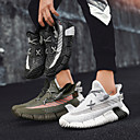 זול נעלי ספורט לגברים-בגדי ריקוד גברים נעלי קלונקי Tissage וולנט אביב קיץ / סתיו חורף ספורטיבי / יום יומי נעלי אתלטיקה ריצה / הליכה נושם קולור בלוק לבן / שחור / ירוק