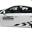 זול פדלים-לבן / שחור מדבקות לרכב עסקים רכב מלא מדבקות טקסט / מספר מדבקות
