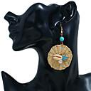 זול עגילים אופנתיים-בגדי ריקוד נשים עגיל דמוי פנינה ציפוי עגילים תכשיטים זהב עבור Party יומי רחוב חגים פֶסטִיבָל זוג 1