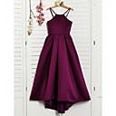 זול שמלות שושבינה-גזרת A קולר א-סימטרי סאטן שמלה לשושבינות הצעירות  עם קפלים על ידי LAN TING BRIDE®