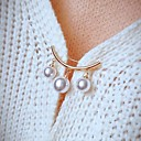 זול סט תכשיטים-בגדי ריקוד נשים תפס לשיער רטרו אומנותי אופנתי סִכָּה תכשיטים לבן כסף צהוב עבור Party פֶסטִיבָל