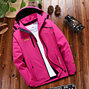 cheap Softshell, Fleece & Hiking Jackets-Women's Solid Color Hiking Jacket Outdoor Autumn / Fall Spring Waterproof Windproof Warm Quick Dry Top Climbing Camping / Hiking / Caving Traveling Black / Fuchsia