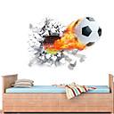 זול חפצים דקורטיביים-מדבקות קיר דקורטיביות - מדבקות קיר תלת מימד כדורגל / 3D חדר ילדים