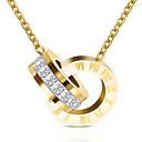 זול מוקסינים לנשים-בגדי ריקוד נשים שרשראות תליון פלדת על חלד זהב כסף זהב ורד 50+5 cm שרשראות תכשיטים 1pc עבור מתנה פֶסטִיבָל