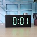 זול חיישנים-ts-t12 דיגיטלי גרגר עץ ידית הוביל שעון מעורר w / טמפרטורה c / f להציג