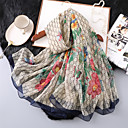 cheap Wedding Wraps-Sleeveless Imitation Silk Wedding / Party / Evening Women's Wrap / Women's Scarves With Printing Shawls / Scarves