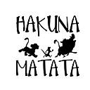 זול תאורה ללוחית הרישוי-13.8cm * 13.3cm hakuna matata אריה המלך simba מכונית סטיילינג ויניל מכונית מדבקה