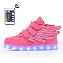 זול נעלי ספורט לילדים-בנים / בנות נעליים זוהרות דמוי עור נעלי ספורט הליכה LED כחול / ורוד / בורדו קיץ / סתיו / קולור בלוק / גומי