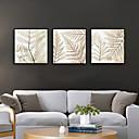 זול אומנות ממוסגרת-דפוס אומנות ממוסגרת סט ממוסגר - פרחוני / בוטני פוליסטירן איור וול ארט