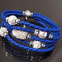 זול שרשרת אופנתית-בגדי ריקוד נשים נול צמיד קלאסי מארג אופנתי בוהו סגסוגת צמיד תכשיטים כחול בהיר / בורדו / לבן קר עבור יומי פֶסטִיבָל