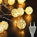 זול ה לד תאורה חכמה-3M חוטי תאורה 20 נוריות לבן חם בתוך הבית / חמוד / יצירתי 220 V 1set