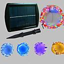 זול כיסויים-20m חוטי תאורה 200 נוריות Dip Led לבן חם / לבן קר / כחול סולרי / Party / דקורטיבי 2 V 1pc / IP65