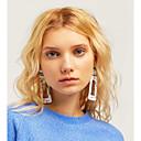 זול עגילים אופנתיים-בגדי ריקוד נשים עגילי טיפה עגילים תכשיטים לבן / חום עבור יומי 1pc