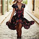 זול שמלות שושבינה-גזרת A צלילה עד הריצפה שיפון מסיבת קוקטייל שמלה עם דוגמא \ הדפס / שסע קדמי על ידי LAN TING Express