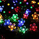 זול רצועות נורות LED-lende 10m 100 פנסים דובדבן מחרוזת אורות סוללות מופעל חג המולד פסטיבל מקורה קישוט חצר חוצות תאורה דקורטיבי