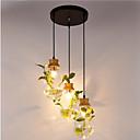 זול דלת חומרה & מנעולים-3-אור גיאומטרי מנורות תלויות Ambient Light גימור צבוע עץ / במבוק זכוכית 110-120V / 220-240V