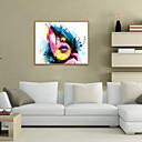 זול אומנות ממוסגרת-דפוס אומנות ממוסגרת סט ממוסגר - מופשט אנשים פוליסטירן ציור שמן וול ארט