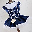 זול לוכד חלומות-שמלות בגדים לכלבים סרט פרפר תחרה נסיכות אדום כחול סיבים אקריליים תחפושות עבור אביב קיץ שמלות וחצאיות חתונה