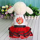 povoljno Odjeća za psa-Haljine Odjeća za psa Lik Čipka Princeza Crvena Crvena Pamuk Kostim Za Proljeće Ljeto Haljine i suknje Slatka Style