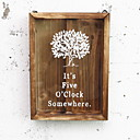 זול עיצוב וקישוט לקיר-מצחיק קיר תפאורה עץ ארופאי וול ארט, שטיחי קיר תַפאוּרָה