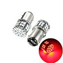 Недорогие Автомобильные светодиодные лампы-пакет из 2 супер ярких bay15d 1157 50smd 1206 светодиодные автомобильные стоп-сигналы постоянного тока 12 В 50 светодиодов авто задние фонари красные лампы указателя поворота лампы