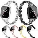 hesapli Smartwatch Bantları-Fitbit versa için watch band fitbit takı tasarım paslanmaz çelik bilek kayışı metal ayarlanabilir alaşım yedek bileklik