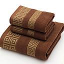 זול מגבת רחצה-איכות מעולה מגבת רחצה, גאומטרי כותנה טהורה חדר אמבטיה 2 pcs