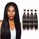 זול תוספות משיער אנושי-4 חבילות שיער מלזי ישר 100% רמי שיער לארוג חבילות טווה שיער אדם שיער Bundle תוספות שיער משיער אנושי 8-28 אִינְטשׁ צבע טבעי שוזרת שיער אנושי חיים רך משיי תוספות שיער אדם