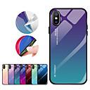 hesapli iPhone Kılıfları-Apple iphone xr iphone xs için kılıf max ayna arka kapak renk degrade sert temperli cam iphone xs için 8 artı 8 7 artı 7 6 artı 6