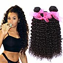 povoljno Audio kabeli-3 paketa Brazilska kosa Kinky Curly Virgin kosa 100% Remy kose tkanja Bundle Headpiece Ljudske kose plete Produžetak 8-28 inch Prirodna boja Isprepliće ljudske kose novorođenče Klasični Novi Dolazak