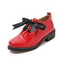 halpa Naisten oxford-kengät-Naisten Oxford-kengät Paksu korko PU Syksy / Kevät kesä Musta / Leopardi / Punainen