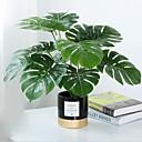 hesapli Yapay Bitkiler-Yapay Çiçekler 1 şube Klasik Modern Çağdaş Bitkiler Masaüstü Çiçeği